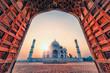 Leinwandbild Motiv Taj Mahal in sunrise light, Agra, India