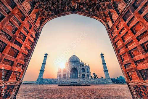 Fotomural  Taj Mahal in sunrise light, Agra, India