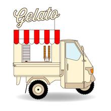 Italienischer Eiswagen Gelato