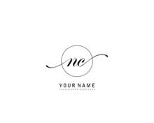 NC Initial Beauty Monogram Logo Vector