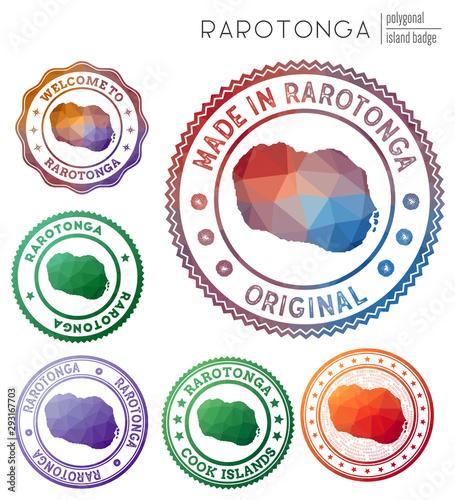 Rarotonga badge Tapéta, Fotótapéta