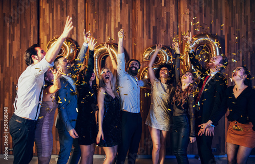 Photo  Getting into New year with confetti
