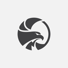Eagle Icon Circular Design Ill...