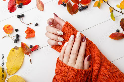 Fotografie, Obraz Autumn manicure