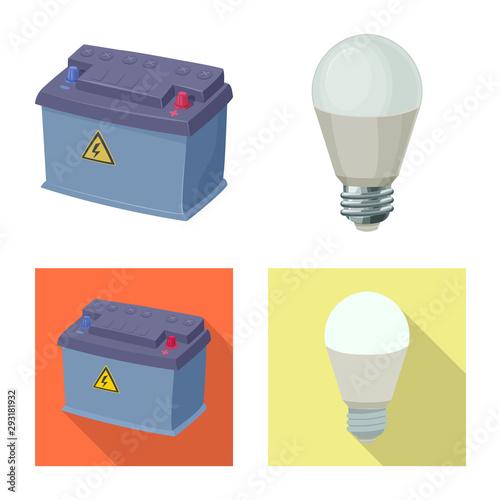 Obraz na plátně Vector illustration of electricity and electric sign