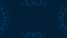 Abstract Navy Blue Pattern Des...