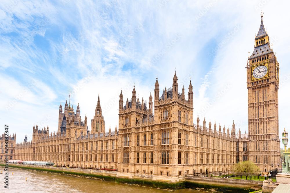 Fototapeta Houses of Parliament and Big Ben in London