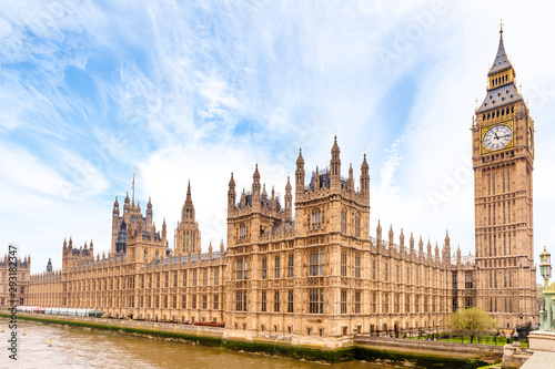 Obraz Houses of Parliament and Big Ben in London - fototapety do salonu