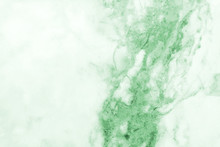 Green Marble Pattern Texture Abstract Background / Texture Surface Of Marble Stone From Nature / Can Be Used For Background Or Wallpaper / Closeup Surface Marble Stone Wall Texture B
