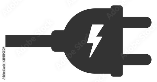 Leinwand Poster Vector electric plug flat icon