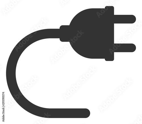 Fotografija  Vector electrical cord flat icon