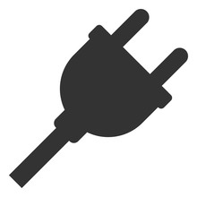 Vector Electric Plug Flat Icon. Vector Pictograph Style Is A Flat Symbol Electric Plug Icon On A White Background.