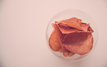 Meat Crispy Chips In A Clear G...