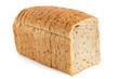 Leinwandbild Motiv Sliced loaf of whole wheat toast bread isolated on white.