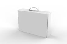 Blank Cardboard Box With Plast...