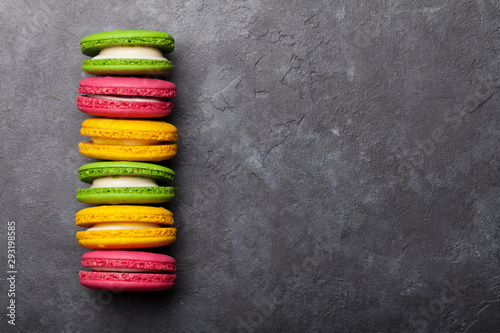 Photo sur Toile Pays d Europe Cake macaron or macaroon sweets
