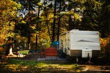 A Deserted Camper Trailer And ...