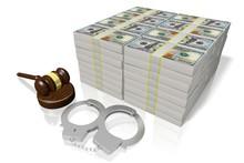 3D Law Concept - Handcuffs, Mo...