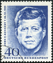 GERMANY - 1964: Shows Portrait Of John Fitzgerald Kennedy (1917-1963), 35th President Of The United States, 1964