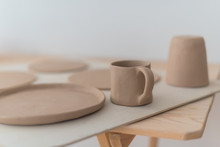 Clay Pottery Workshop, The Process Of Making Ceramic Crockery