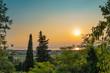 canvas print picture - Sonnenuntergang am Gardasee in Italien