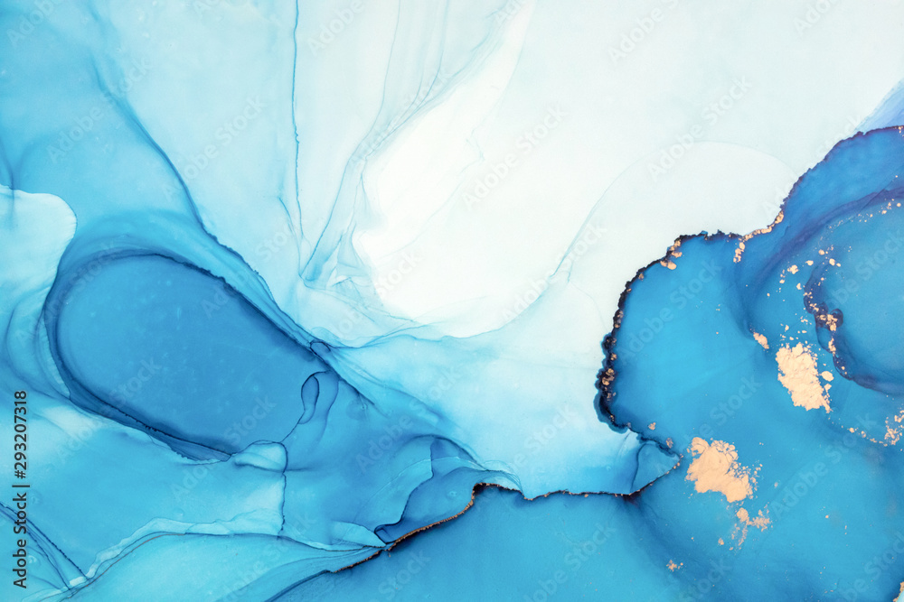 Ink colors are amazingly bright, luminous, translucent, free-flowing, and dry quickly. Abstract artwork. Trendy wallpaper. Natural pattern, luxury. Art for your design project. Transparent creativity.