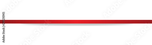 Fotografie, Tablou  Rot Red Band Banner