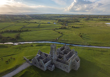 Ross Errilly Friary Aerial Vie...