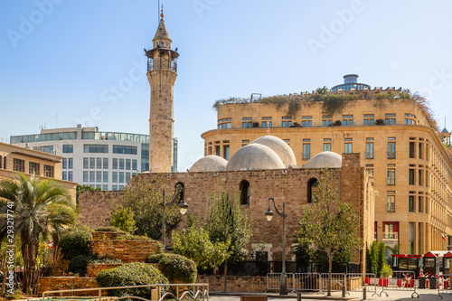 Photographie Mansour Assaf Mosque in the center of Beirut, Lebanon