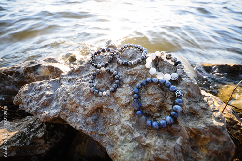 Photo Natural stone bracelet, hand made jewelry