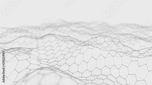 Cuadros en Lienzo Futuristic white hexagon background