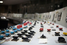 Control Panel Of The Nuclear Power Plant