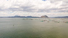 Lake Taal With A Volcano And F...