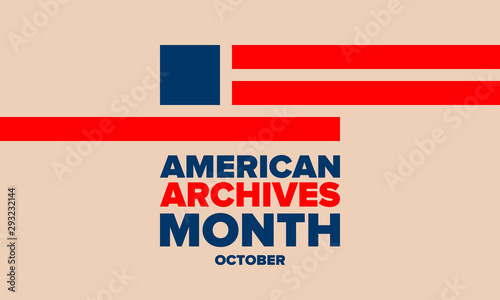 American Archives Month in October Canvas Print