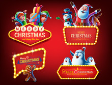 Happy Christmas Badges And Sig...