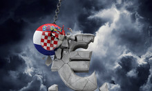 Croatia Flag Ball Smashing A E...