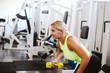 Young woman workout in gym healthy lifestyle