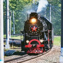 Image Of The Retro Steam Train...