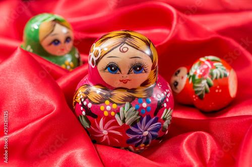 Beautiful Russian nesting dolls Canvas Print