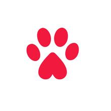 Paw Logo Icon Design Template