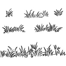 Doodle Grass Illustration Coll...