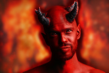 Red Devil With Horns