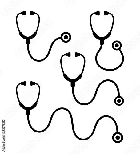 Fototapeta stetoskop zestaw ikon obraz