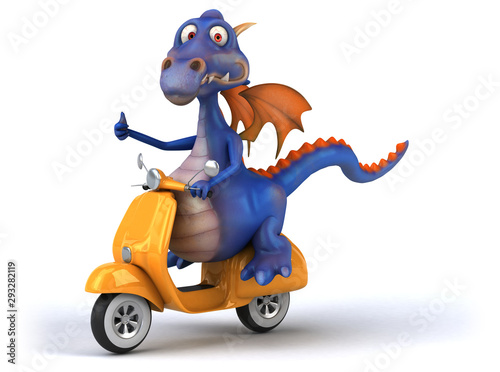 Printed kitchen splashbacks Fairytale World Fun dragon