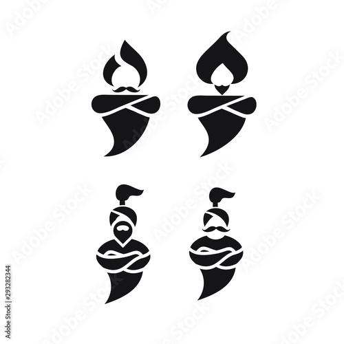 genie logo icon designs vector Canvas
