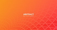Abstract Orange Geometric Line...