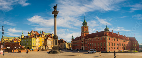 Warsaw,Poland: Royal Castle on the Castle Square on a clear spring day