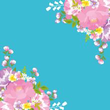 花柄フレーム 台湾花布 タイトル変更