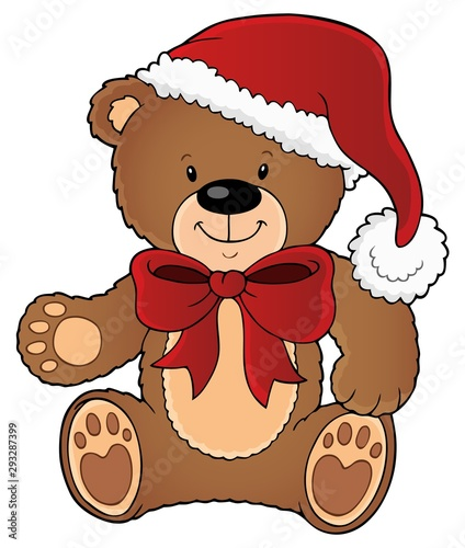 Poster Voor kinderen Christmas teddy bear topic image 1