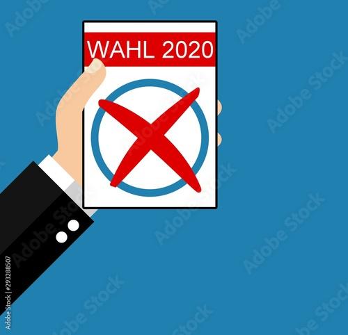 Wahl 2020 - Flat Design
